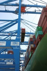 UAE-ABU DHABI-CHINSES CONTAINER SHIP-ARRIVAL