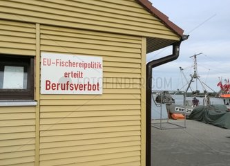 Fischer protestieren gegen die EU