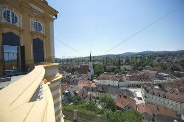 Views of Melk on the municipality Melk on the Danube. UNESCO World Heritage Site Wachau