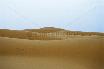 Dunes in Sahara desert  Morocco  landscape