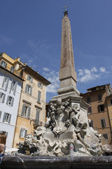 Brunnen auf Piazza della Rotonda im Rom