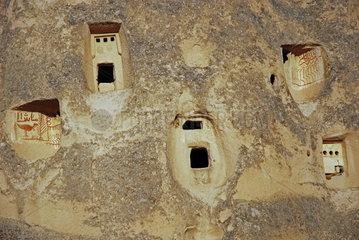 Burgberg von Uchisar in Kappadokien  Tuerkei