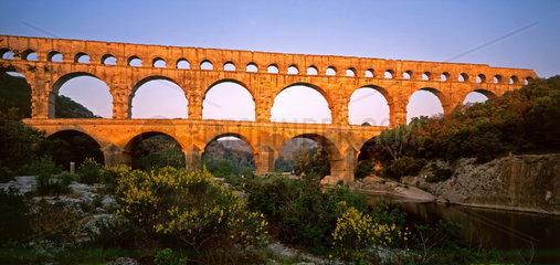 Pont du Gard  Languedoc  Frankreich