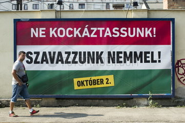 referendum campaign on 2 October in Hungary