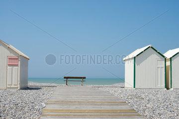 Strandhaeuser in der Picardie