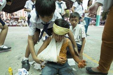 Erdbebenuebung Metro Manila Shake Drill for the Big One