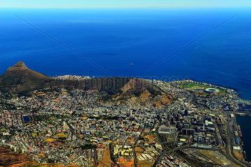 Luftaufnahme Kapstadt mit Lions Head
