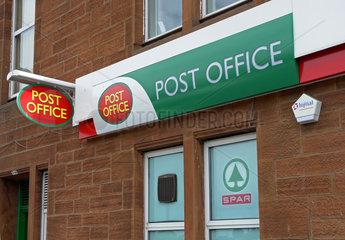 GB  England  Poststelle in einer Sparfiliale in Workington