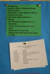 Regeln in einer christlichen Grundschule