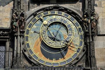 Astronomische Uhr am Rathausturm in Prag