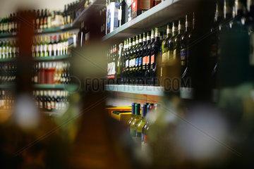 Verkaufsflaeche der Weinkellerei Peter Mertes GmbH & Co. KG