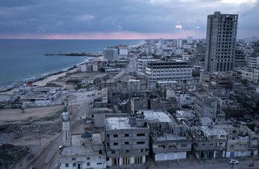 Gazastadt am Abend