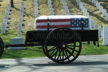 Beerdigung auf dem amerikanischen Nationalfriedhof in Arlington
