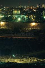 Jerusalem in der Nacht
