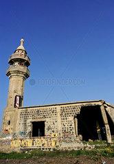 Naher Osten: Zerstoerte Moschee auf den Golan-Hoehen