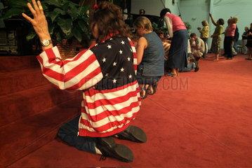 Messfeier in einer US-amerikanischen Freikirche