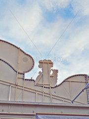 Rueckseite Dachkonstruktion einer Baeckerei