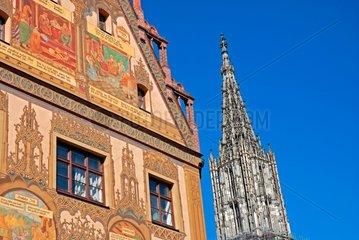 Rathaus und Ulmer Muenster