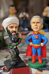 China: G.W. Bush und Bin Laden als Karikatur-Figuren