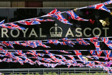 Royal Ascot  National flags and the word Royal Ascot