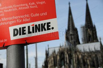 Die Linke Wahlplakat in Koeln