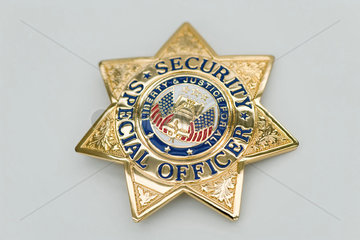 Special Security Officer brass badge