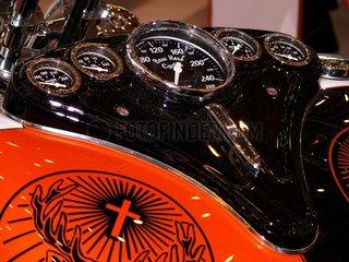 Detailaufnahme BOSS HOSS Motorrad: Tacho