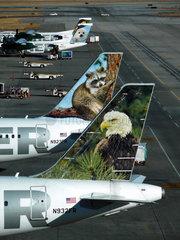 Flugzeuge von Frontier Airlines in Denver
