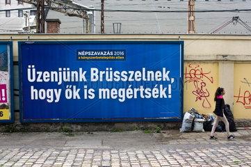 migration referendum campaign   Budapest  Hungary