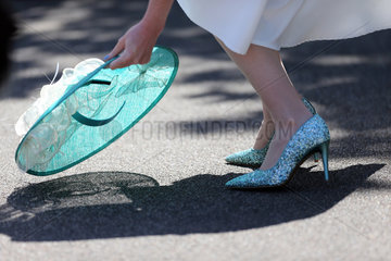 Royal Ascot  Fashion on Ladies Day  hat and high heels
