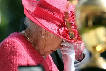 Royal Ascot  Grossbritannien  HRH Queen Elizabeth the Second is not amused