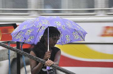 Anhalte Starkregenfaelle in Sri Lanka
