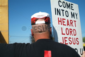 Christlicher Demonstrant in den USA