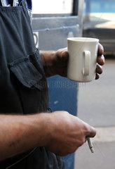 Kfz-Werkstatt: Kaffeepause