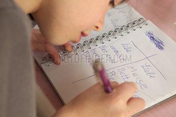 Rechtschreibung Lernmethode 'Lesen durch Schreiben'