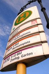 Haltestelle an der Friedrichstrasse