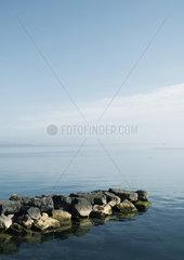 Rock breakwater