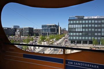 Aussichtsplattform in der Hafen City Hamburg