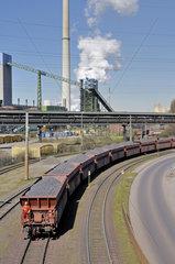Kohlezug bei ThyssenKrupp Schwelgern