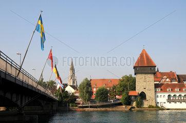 Rheinbruecke in Konstanz mit Rheintorturm