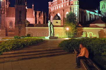 Ein gotisches Architekturensemble in Vilnius  Litauen