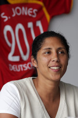 Steffi Jones  Organisatorin der Frauen Fussballweltmeister der Frauen 2011