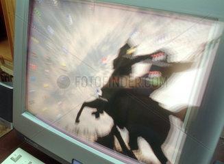 Berlin  Computerbildschirm