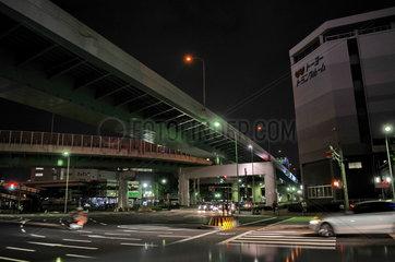 Nachtaufnahme Hochstrasse in Nagoya  Japan