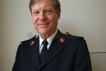 Major Bruce Smith  Chef der Heilsarmee in Charlottesville / Virginia