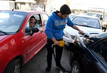 SYRIA-DAMASCUS-GAS STATION-FUEL SHORTAGE