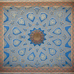 Ornately painted ceiling  Bukhara  Uzbekistan