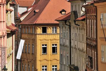 Hausfassaden in Prag