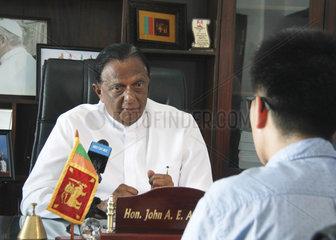 SRI LANKA-COLOMBO-BLASTS-MINISTER-INTERVIEW