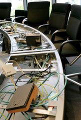Konferenztechnik in einem Sitzungsraum